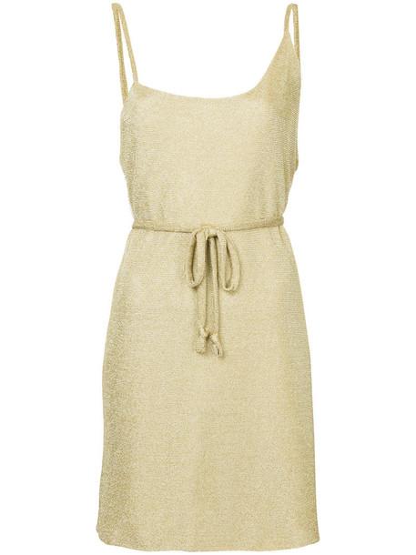 Kacey Devlin dress mini dress mini women grey metallic