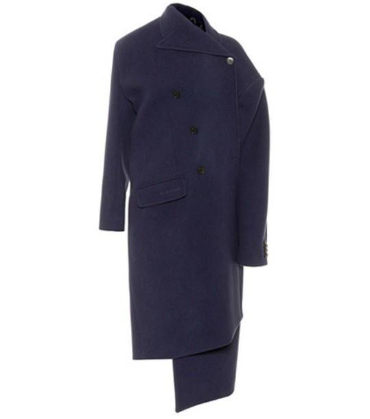 Balenciaga coat wool blue