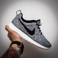 NIKE ROSHE RUN SPLATTER BLACK AND WHITE on The Hunt