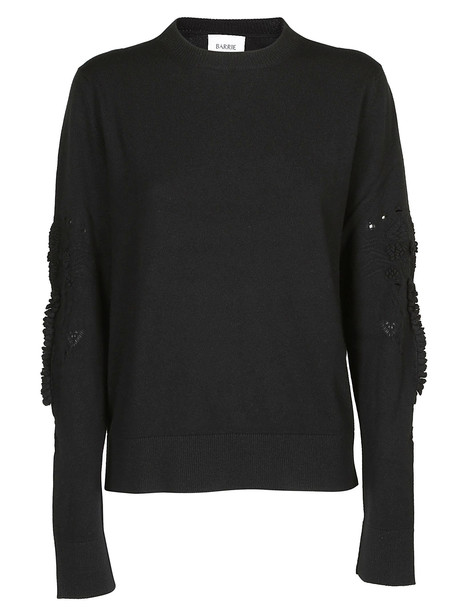 Barrie Textured Sleeves Sweater in black