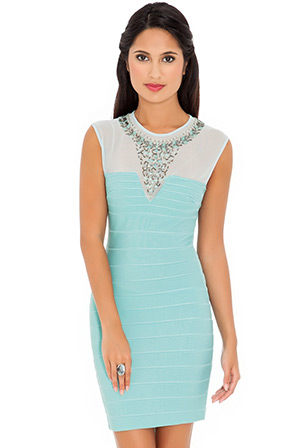 Embellished Neck Dress