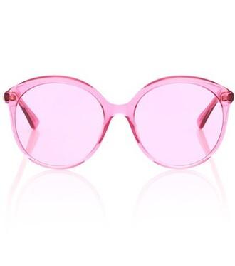oversized sunglasses round sunglasses pink
