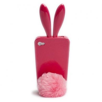 Coque iphone 4 rabito rose fuchsia