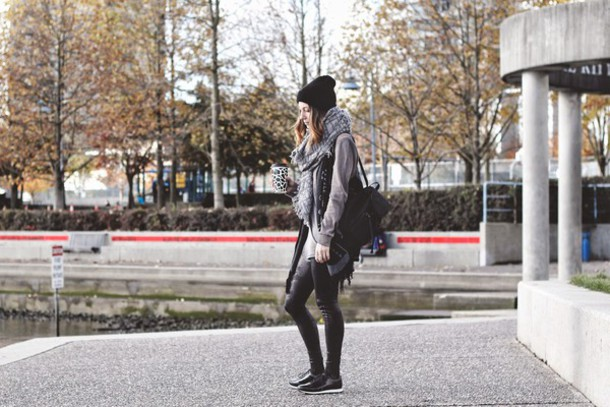 to bruck ave blogger leggings top jacket shoes scarf