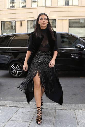 skirt fashion week 2014 kim kardashian black