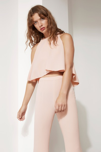 C/MEO COLLECTIVE top pink dusty pink