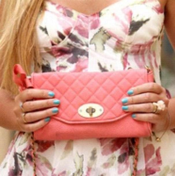 strapless floral dress white dress pink dress dress