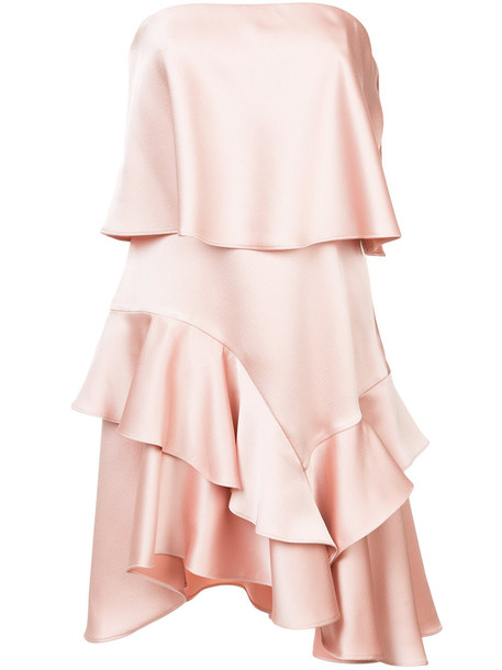 Halston Heritage dress women layered purple pink