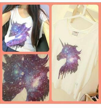 t-shirt unicorn space mainsyream