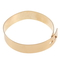 Fashion gold color wide flat metal ankle foot cuff bracelets bangle gift s9