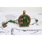 jewels,the lord of the rings,necklace,door,middle earth,phantasy,green,brown,hobbit
