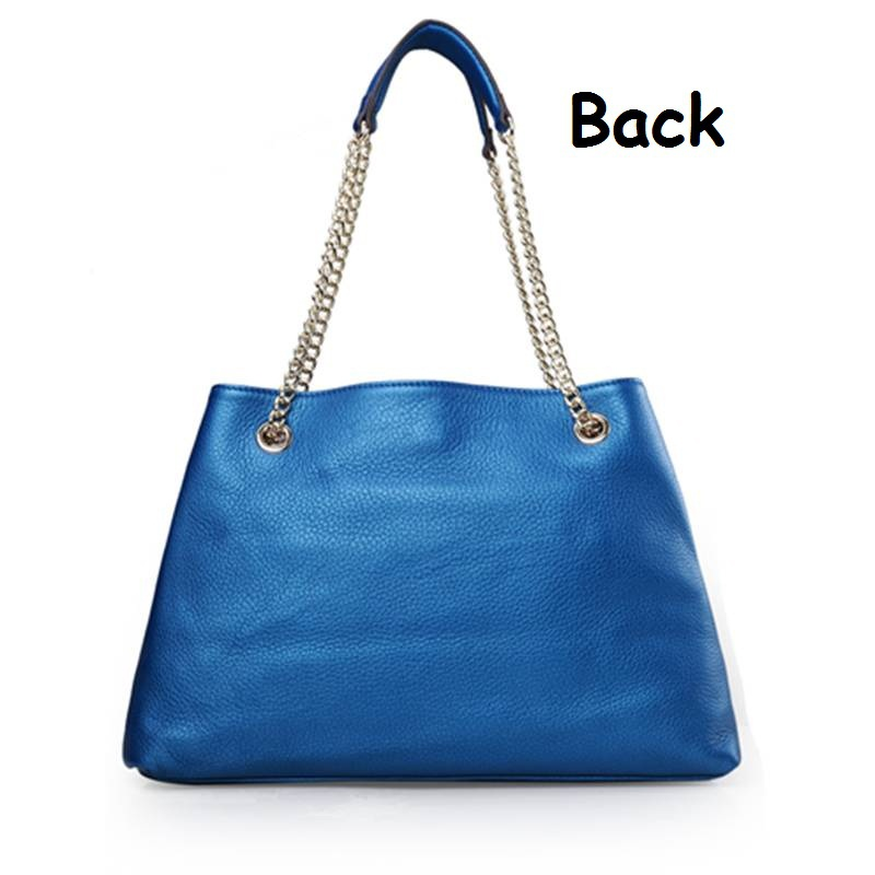 Aliexpress.com : Buy 2014 Fashion Brand New Genuine Leather Women pearly lustre High quality Blue Handbag 38x27x14cm Free shipping from Reliable leather acoustic guitar strap suppliers on Lady Vivian's Luxury Discount Store