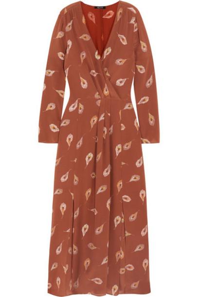 dress maxi dress maxi silk brown