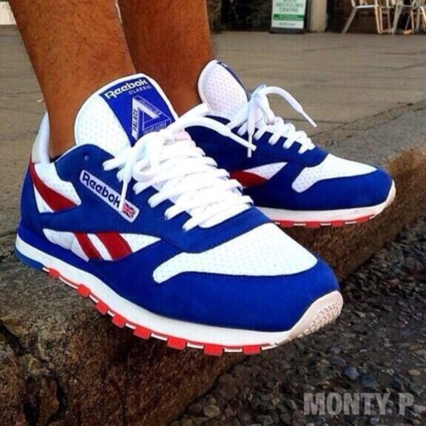 shoes blue red white reebok edit tags