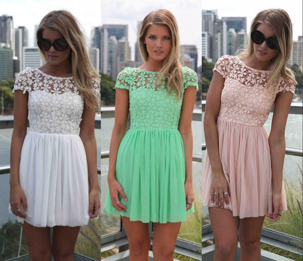 Dress: summer dress, 2014 dresses, short dress, lace dress, women ...