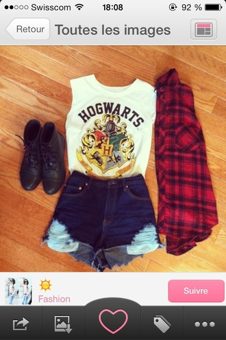 tank top harry potter shorts shirt
