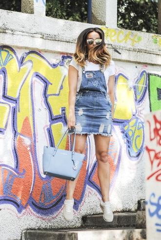let's talk about fashion ! blogger jumpsuit sunglasses shoes bag overalls