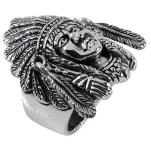 Amazon.com: Large Indian Head - Sterling Silver Ring: Jewelry