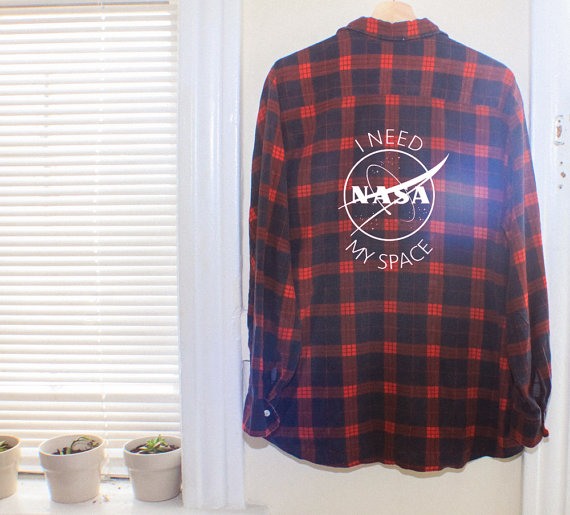 I need my space reworked vintage flannel for Space flannel