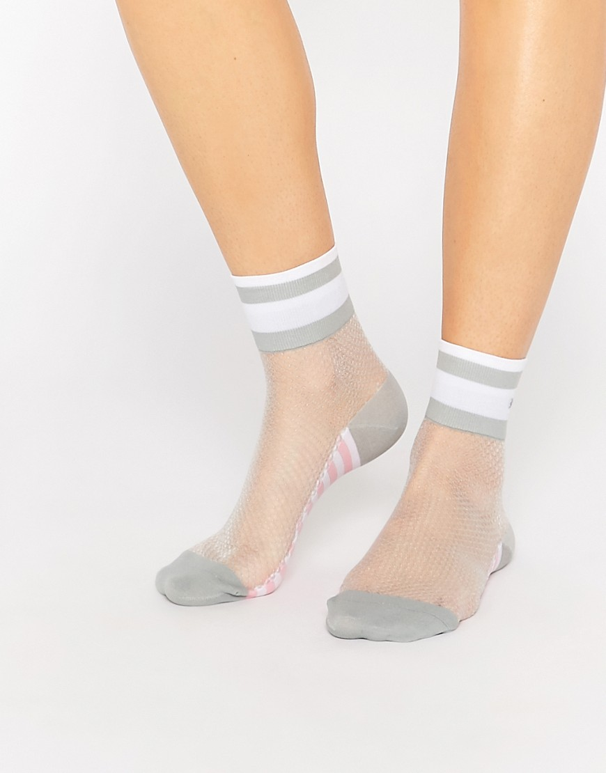 Stance x Rihanna Mesh Ankle Sock with Contrast Grey at asos.com