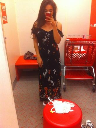 dress floral dess cold shoulder dress black floral dress off the shoulder spaghetti straps dress button up dress