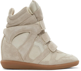 sneakers suede taupe wedge sneakers shoes