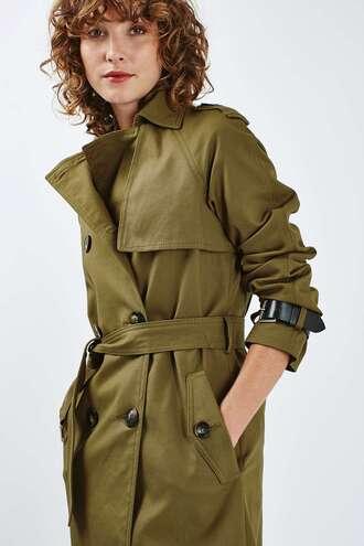 jacket trench coat green coat