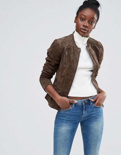 jacket clothes outerwear suede jacket