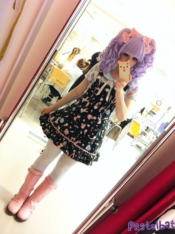 dress pastel goth hair accessory phone cover