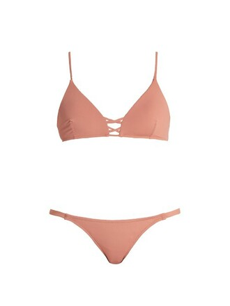 bikini bralette bikini pink swimwear