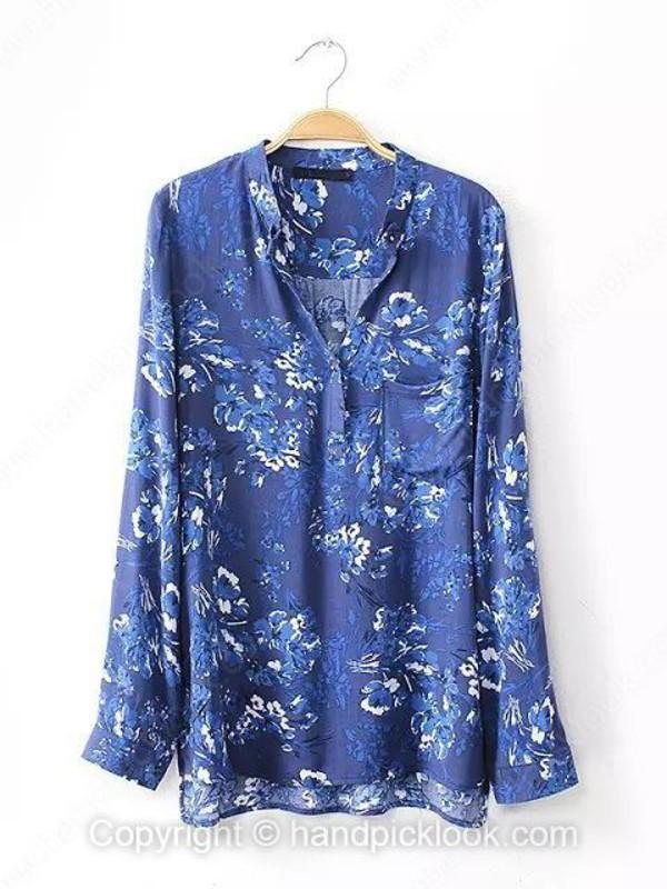 blouse floral floral blouse blue blue shirt blue blouse blue floral