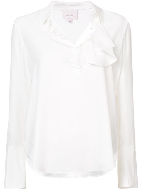Cinq a Sept blouse women white silk top