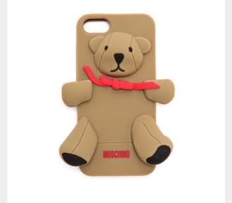 phone cover iphone case moshino moschino teddy teddy bear bear iphone cover iphone iphone 5c