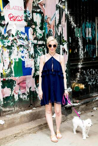 yael steren blogger dress romper sunglasses shoes make-up jewels nail polish