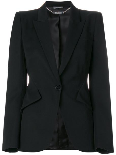 Alexander Mcqueen blazer women black wool jacket