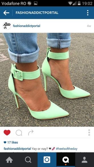 shoes heels stilettos mint instagram
