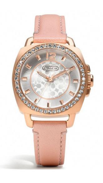 jewels pink coach breast cancer watch