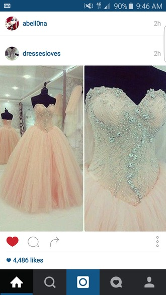 dress peach prom