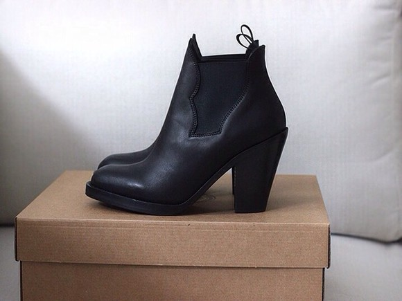shoes boots classy boots, black, chunky , ankle, high, heeled , ankle boot, chelsea boot classy, heels, black black booties leather booties heals