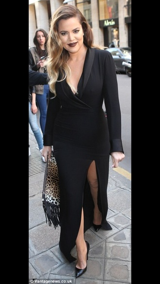 dress khloe kardashian black maxi dress