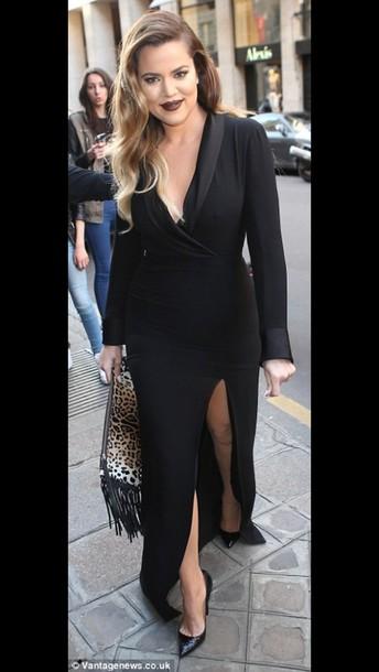 Dress khloe kardashian black maxi dress wheretoget for How to dress like khloe kardashian