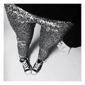 glitter,sequins,party,pants,converse