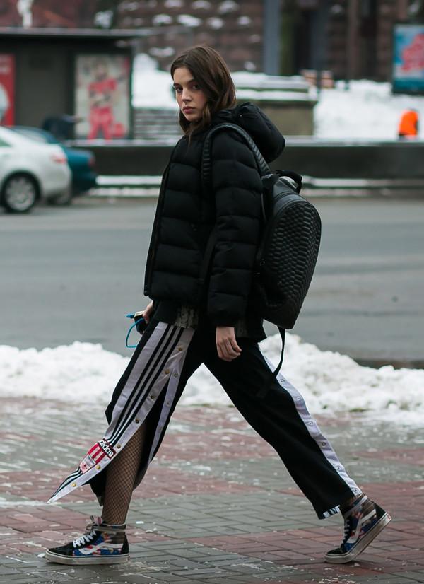 Jacket Tumblr Black Jacket Down Jacket Quilted Pants