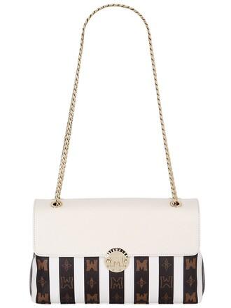 bag shoulder bag leather white black