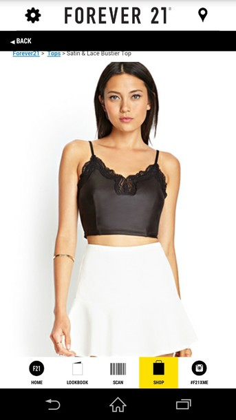 tank top bustier satin forever 21