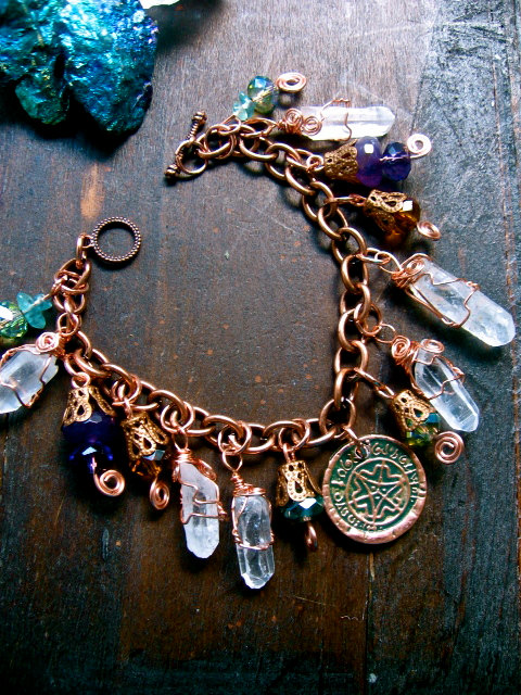 Faerie inspiration wishing coin bracelet by eirecrescent on etsy