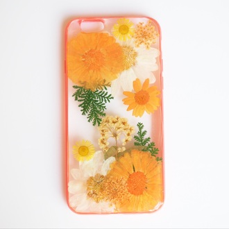 phone cover summer summer handcraft trendy flowers floral cute forher orange fashion handmade handcraft design cool birthday gift valentines day gift idea holiday gift mothers day gift idea gift ideas valentines day girly