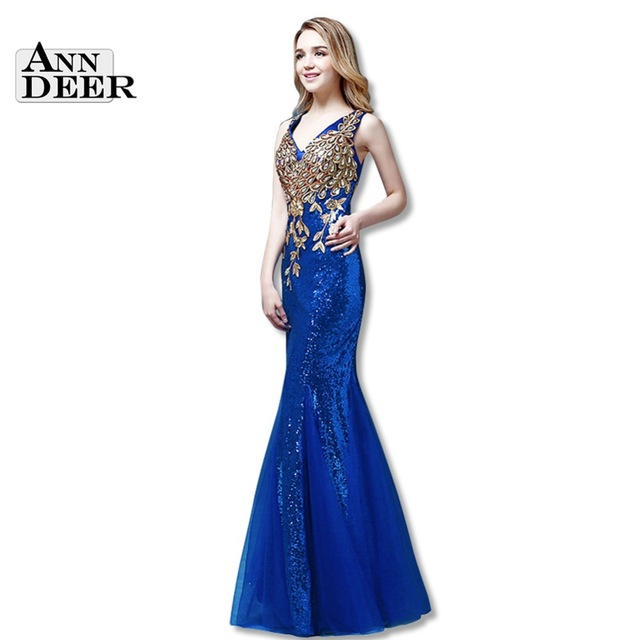 Aliexpress.com : Buy Y101 Real Photos Sexy Mermaid Prom Dresses 2016 Sequin Appliques Long Prom Dress Gown Formal Dresses Robe De Soiree from Reliable dress maid suppliers on Ann Deer Online store
