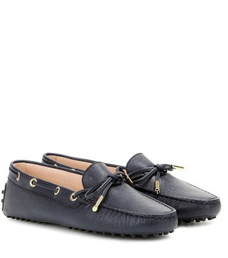 new loafers leather blue shoes