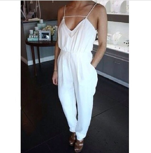 jumpsuit white dress white jumpsuit